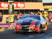 Pro Stock driver Alex Laughlin racing on Friday at the 2019 Toyota NHRA Sonoma Nationals