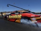 Pro Stock driver Alex Laughlin racing on Saturday at the 2019 Toyota NHRA Sonoma Nationals