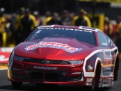 Pro Stock driver Greg Anderson racing on Sunday at the 2019 Toyota NHRA Sonoma Nationals