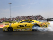 Pro Stock driver Jeg Coughlin Jr. racing on Sunday at the 2018 Toyota NHRA Sonoma Nationals