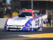 John Force Racing Funny Car pilot Robert Hight racing on Sunday at the Toyota NHRA Sonoma Nationals