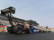 Former Top Fuel Dragster pilot Blake Alexander racing on Sunday at the 2018 Toyota NHRA Sonoma Nationals