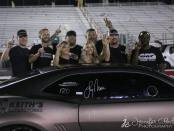 Drag racer Lizzy Musi after her win in Madison, Illinois at NPK event No. 3