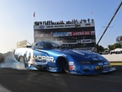 Funny Car pilot Matt Hagan is the provisional leader on Friday at the 2019 Lucas Oil NHRA Nationals