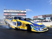 Don Schumacher Racing Funny Car pilot Ron Capps racing on Sunday at the 2019 Lucas Oil NHRA Nationals