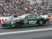 Pro Stock driver Deric Kramer racing on Sunday at the 2018 Lucas Oil NHRA Nationals