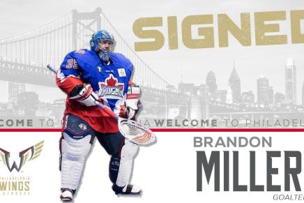 Wings sign goalie Brandon Miller