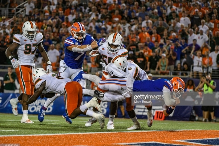 Gators escape with 2019 Camping World Kickoff win overHurricanes