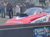 Top Alcohol Funny Car pilot Matt Gill during qualifying session 1
