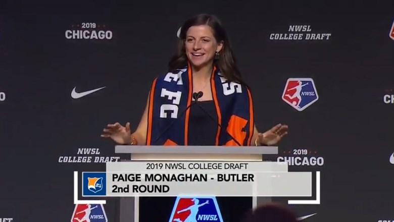 Paige Monaghan drafted by Sky Blue FC with the 10th overall selection