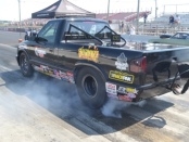 Drag Racer Taylor Iacono during a burnout before a race at Atco Dragway