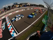 Driver Chase Elliott takes the green flag to start the Monster Energy NASCAR Cup Series Go Bowling at The Glen