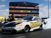 Havoline/Elite Performance Pro Stock driver Alex Laughlin racing on Sunday at the Chevrolet Performance U.S. Nationals
