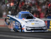 Living legend John Force racing on Monday at the Chevrolet Performance U.S. Nationals
