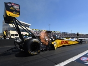 DHL/Kalitta Air Top Fuel Dragster pilot Richie Crampton racing on Sunday at the Mopar Express Lane NHRA Nationals presented by Pennzoil