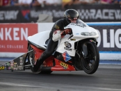 Steve Johnson Racing Pro Stock Motorcycle rider Steve Johnson is the provisional leader 2019 AAA Insurance NHRA Midwest Nationals