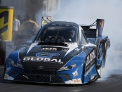 Global Electronic Technology Funny Car pilot Shawn Langdon racing on Sunday at the AAA Insurance NHRA Midwest Nationals