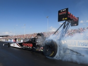 Capco Contractors Top Fuel Dragster pilot Billy Torrence racing on Sunday at the AAA Insurance NHRA Midwest Nationals