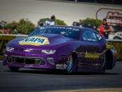 Mountain View Pro Stock driver Vincent Nobile racing on Sunday at the Dodge NHRA Nationals