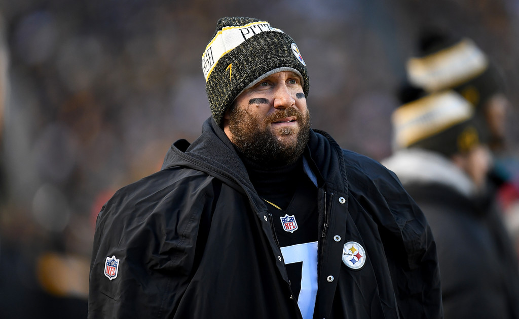 Pittsburgh Steelers quarterback Ben Roethlisberger looks on against the Cincinnati Bengals