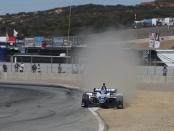 NTT IndyCar Series driver Takuma Sato racing on Saturday at the Firestone Grand Prix of Monterey