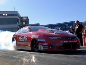 Melling Performance/Elite Performance Pro Stock driver Erica Enders is the provisional No. 1 qualifier at the 2019 NHRA Carolina Nationals