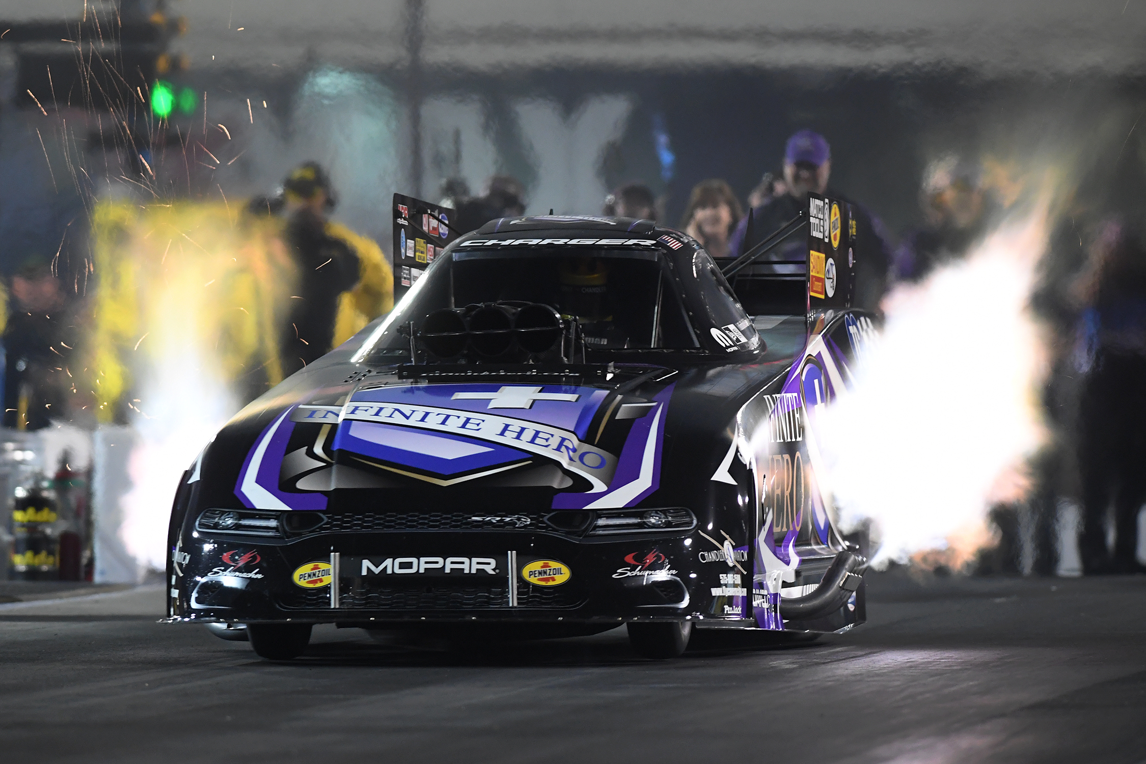 Infinite Hero Foundation pilot Jack Beckman is the provisional No. 1 qualifier in Funny Car at the 2019 NHRA Carolina Nationals