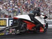 Steve Johnson Racing Pro Stock Motorcycle rider Steve Johnson is the No. 1 qualifier at the 2019 NTK NHRA Carolina Nationals