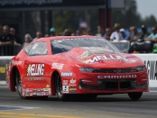 Elite Performance/Melling Performance Pro Stock driver Erica Enders racing on Saturday at the NTK NHRA Carolina Nationals
