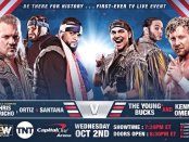 First-ever TV AEW Dynamite show main event AEW Dynamite show main event featuring Chris Jericho, Sanata, and Ortiz vs. The Young Bucks and Kenny Omega