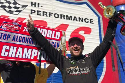 Bellemeur wins second straight Top Alcohol Funny Car Championships