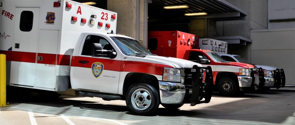 Ambulance at a Hospital