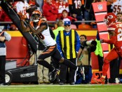 Cincinnati Bengals wide receiver A.J. Green makes a catch against the Kansas City Chiefs