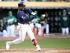 Tampa Bay Rays slugger Yandy Diaz hitting a home run off of Sean Manaea against the Oakland Athletics