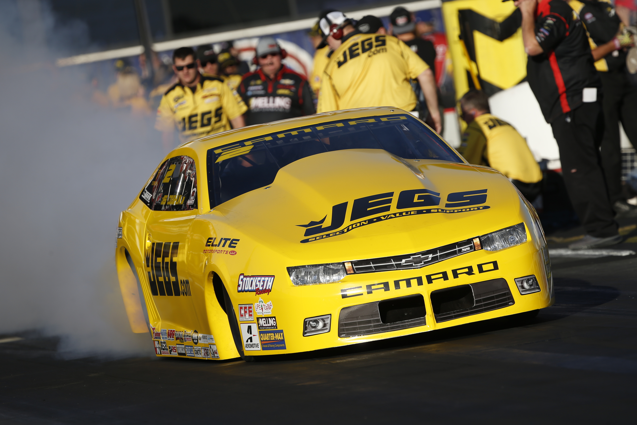 JEGS/Elite Performance Pro Stock driver Jeg Coughlin Jr. racing on Sunday at the Auto Club NHRA Finals