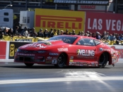 Elite Performance/Melling Performance Pro Stock driver Erica Enders racing on Friday at the Dodge NHRA Nationals