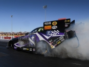 Infinite Hero Foundation Funny Car pilot Jack Beckman racing on Saturday at the Dodge NHRA Nationals presented by Pennzoil