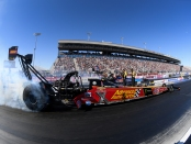 Advance Auto Parts Top Fuel Dragster pilot Brittany Force racing on Sunday at the Dodge NHRA Nationals presented by Pennzoil