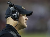Former Missouri Tigers head football coach Barry Odom looks on the field against the Alabama Crimson Tide