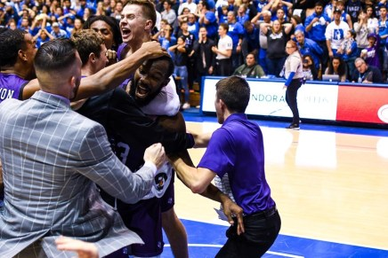 Lumberjacks stun (1) Blue Devils in Cameron