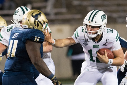 Bobcats become Bowl eligible in blowout over Zips