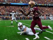 Minnesota Golden Gophers wide receiver Tyler Johnson makes a catch against the Penn State Nittany Lions
