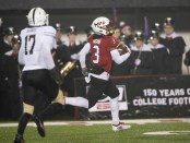 Northern Illinois Huskies wide receiver Tyrice Richie scores a touchdown against the Western Michigan Broncos
