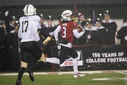 Huskies end season on high note with 17-14 win overBroncos