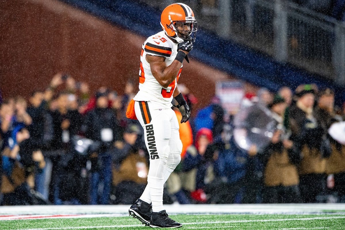 Former Cleveland Browns safety Jermaine Whitehead suited up during a 2019 NFL game