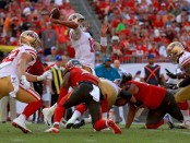 San Francisco 49ers quarterback Jimmy Garoppolo throws a pass against the Tampa Bay Buccaneers