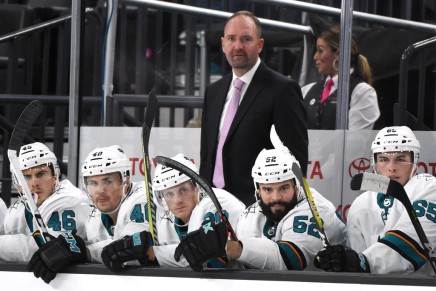Sharks fire head coach DeBoer after about 4 1/2 seasons