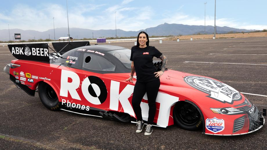 NHRA Competitor Alexis DeJoria has announced that she will drive the ROKiT Phones/ABK Beer Funny Car