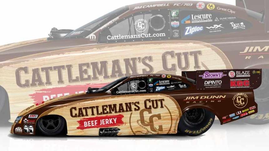 Jim Dunn Racing's Cattleman's Cut Beef Jerky Funny Car