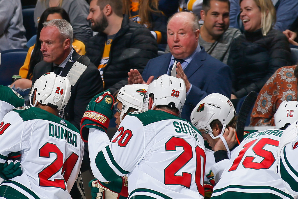 Former Minnesota Wild head coach Bruce Boudreau during the third period against the Nashville Predators